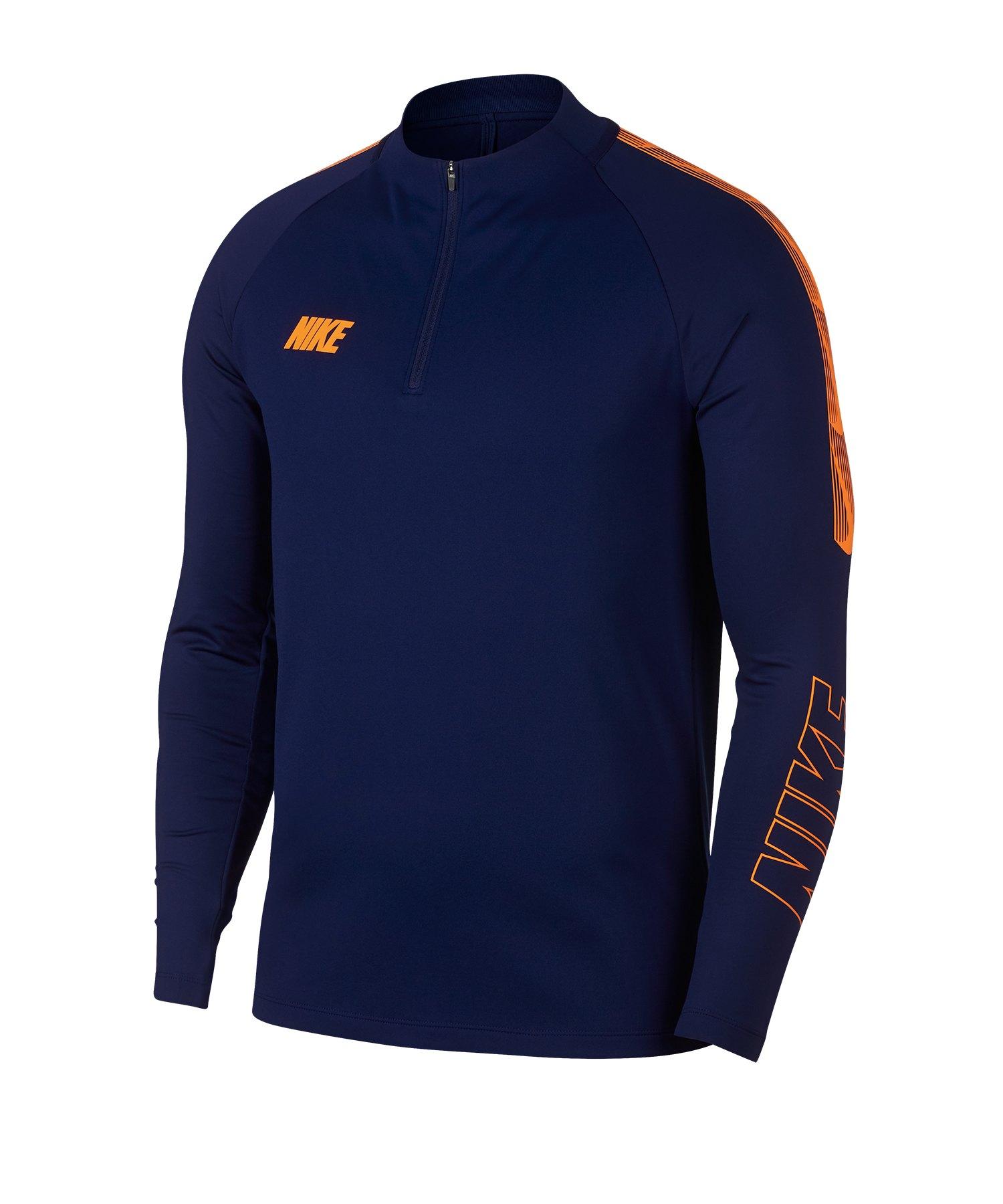 Nike Dry Squad Drill Top Sweatshirt Blau F492 - Blau