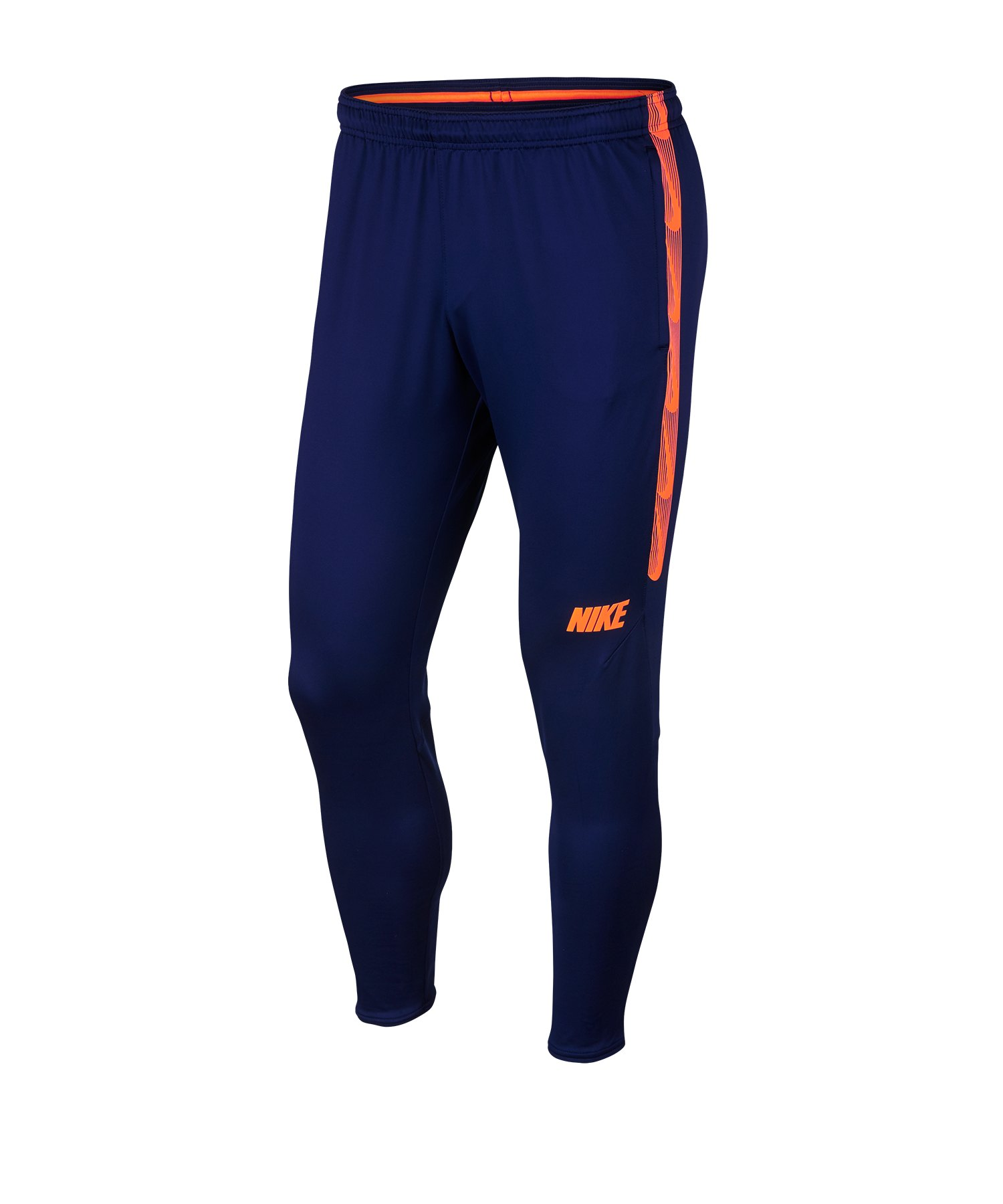 Nike Dry Squad Pant Hose Blau Orange F492 - Blau