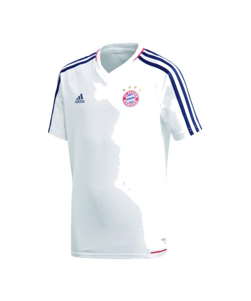 adidas FC Bayern München Trainingsshirt Kids Weiss - weiss