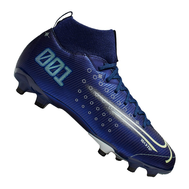 Nike Jr Mercurial Superfly VII DS Academy FG Kids Blau F401 - blau