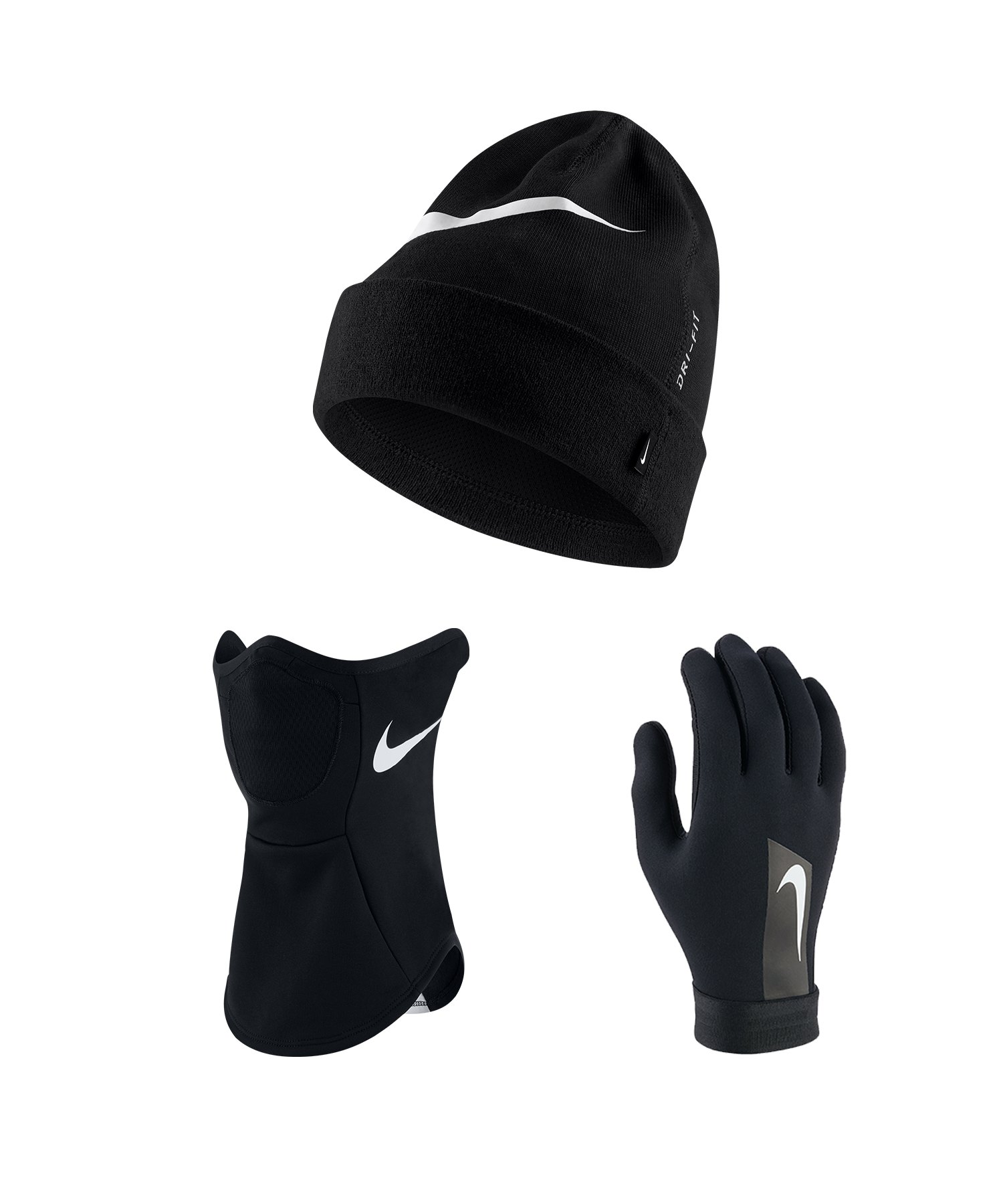 Nike Strike 3er Winter Set Schwarz F010 - schwarz