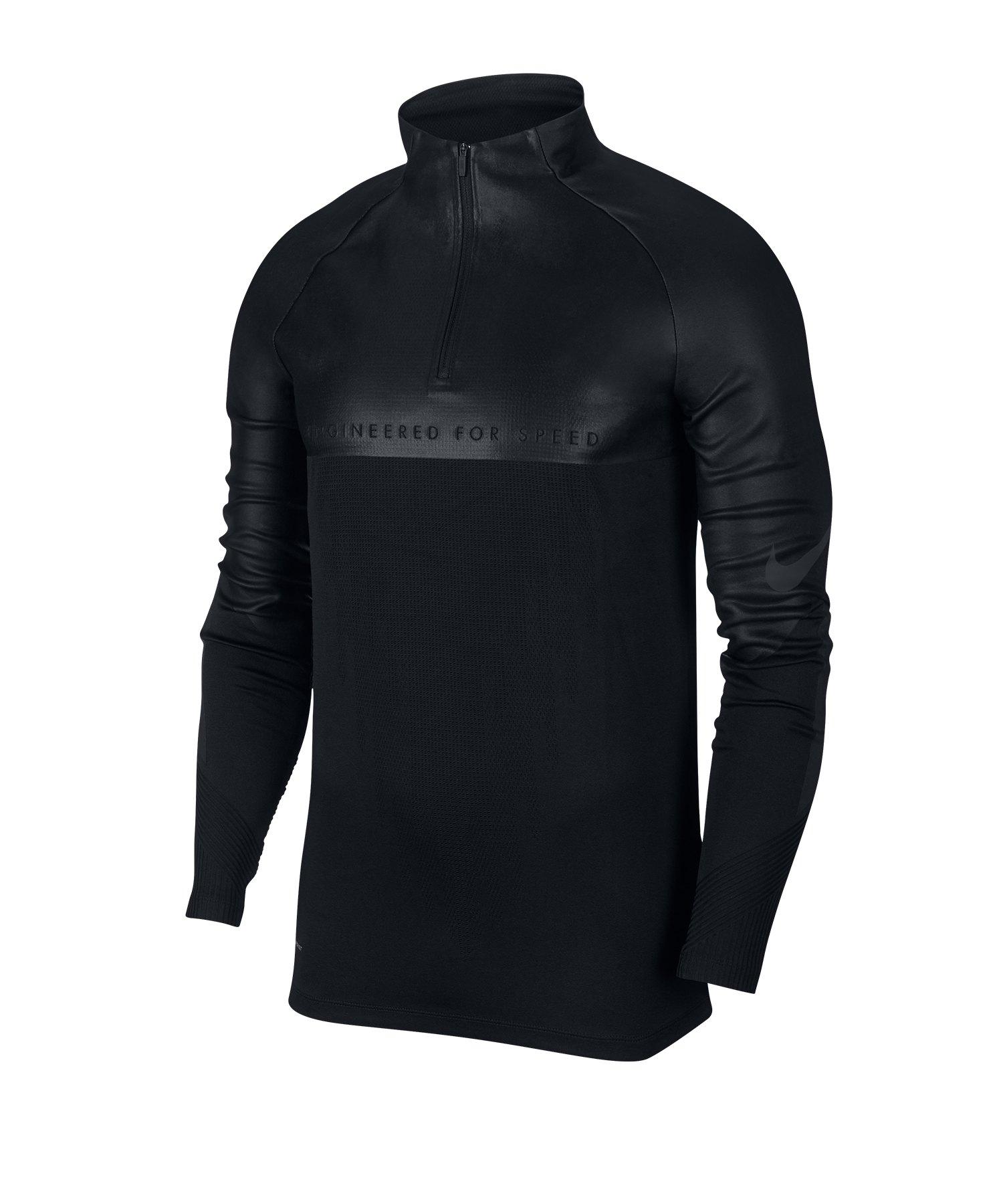 Nike VaporKnit Strike 1/4 Zip Shirt langarm F010 - schwarz