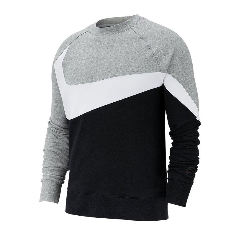 Nike Statement Swoosh Crew Sweatshirt Grau F063 - Grau