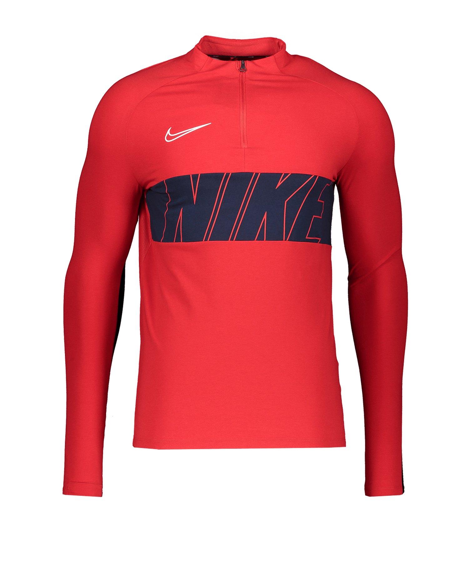 Nike Academy 1/4 Zip Drill Top LS F657 - rot