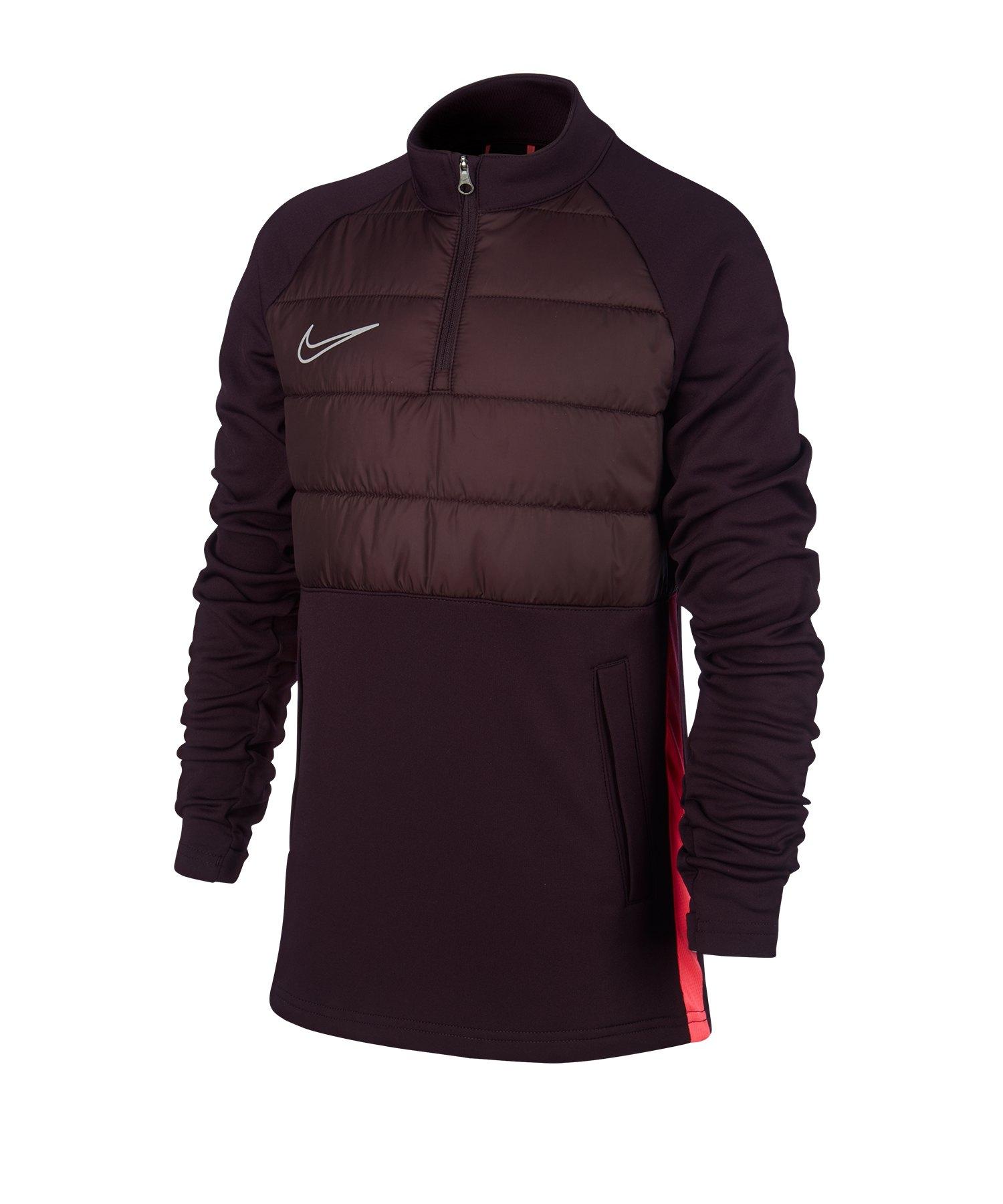 Nike Dri-FIT Academy 1/4 Zip Sweatshirt Kids F659 - rot