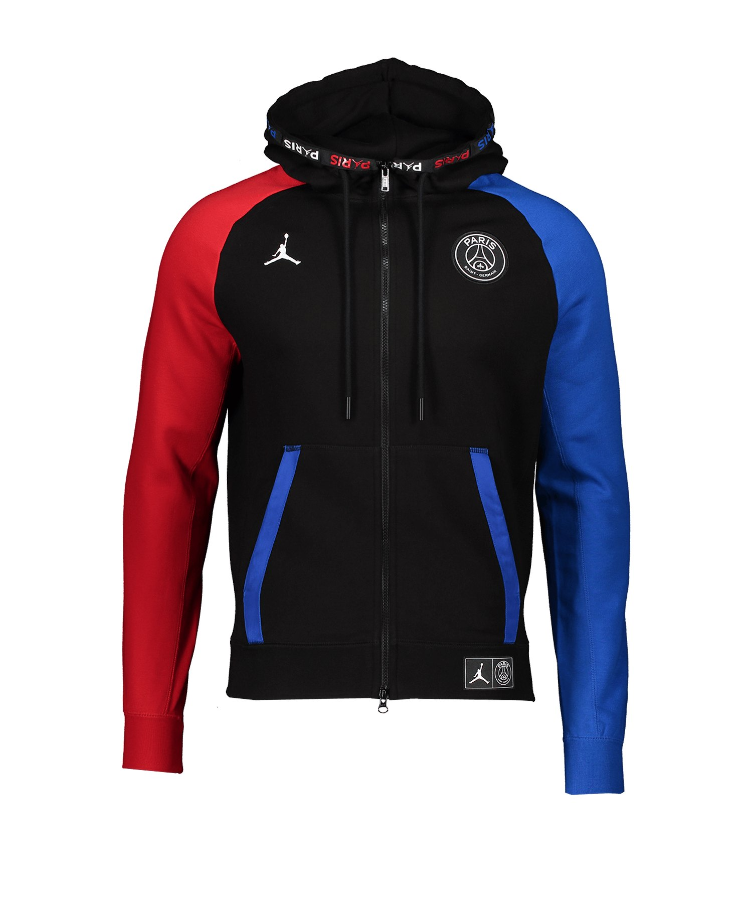 Jordan X PSG Fleece Kapuzenjacke Schwarz F011 - schwarz
