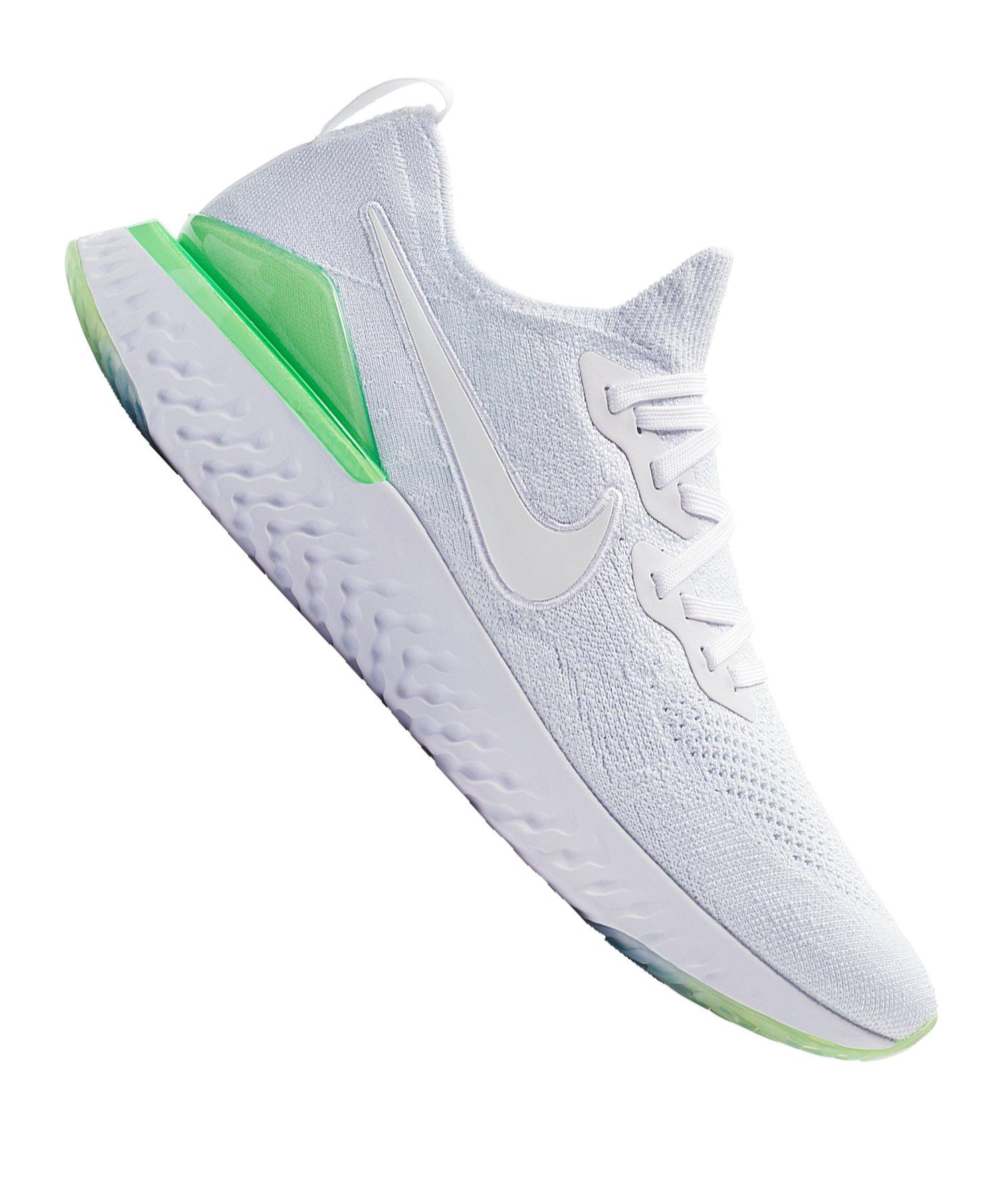 Nike Epic React Flyknit 2 Running Weiss F100 - weiss