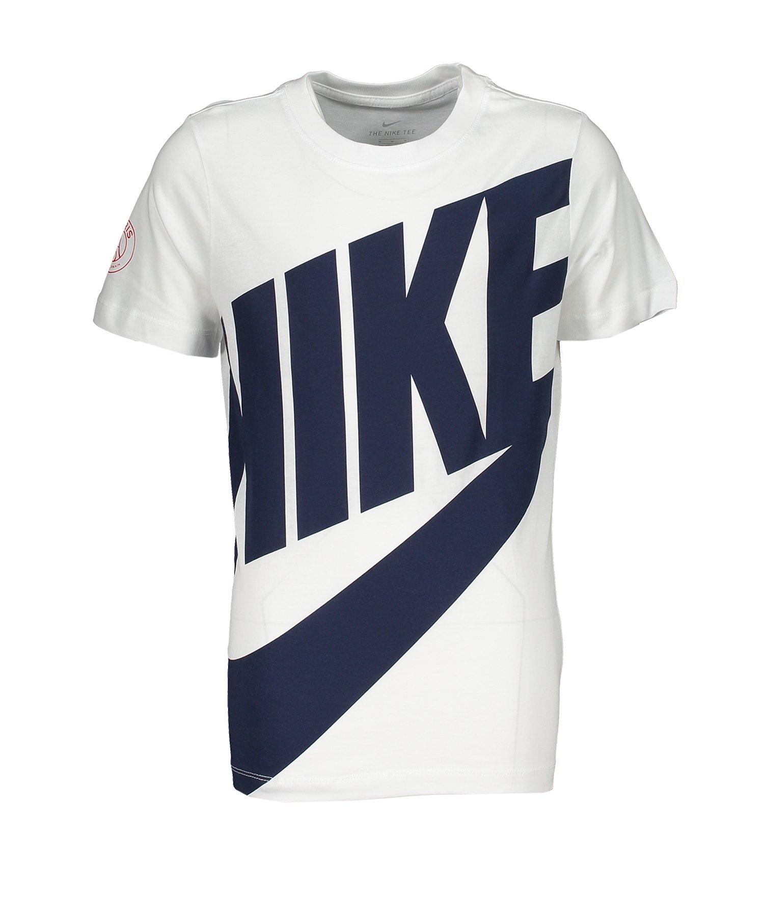 Nike Paris St. Germain T-Shirt CL Kids F100 - weiss
