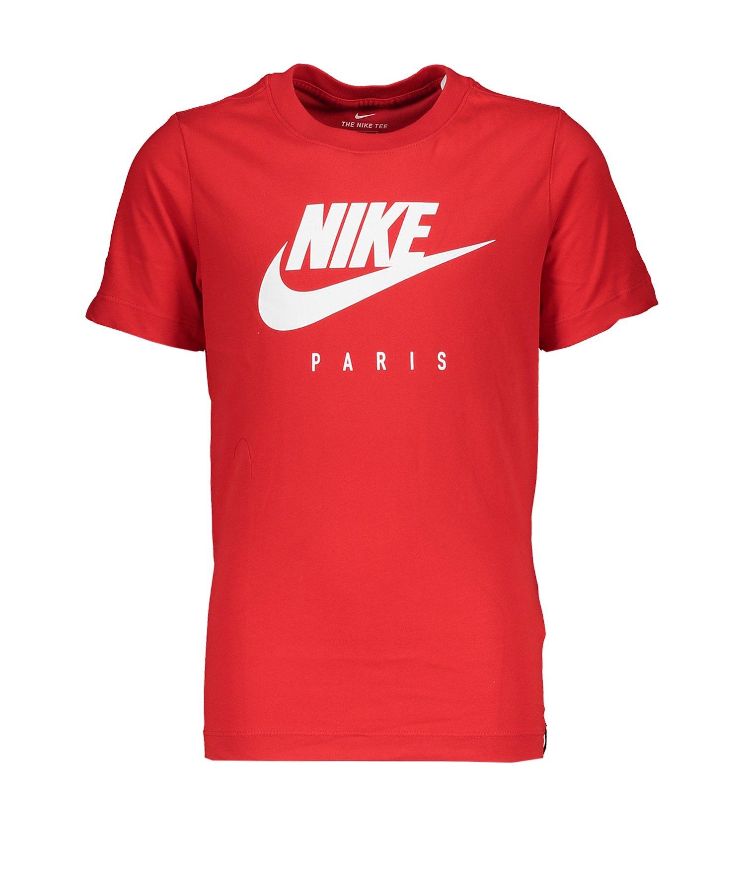 Nike Paris St. Germain Dry T-Shirt CL Kids F657 - rot
