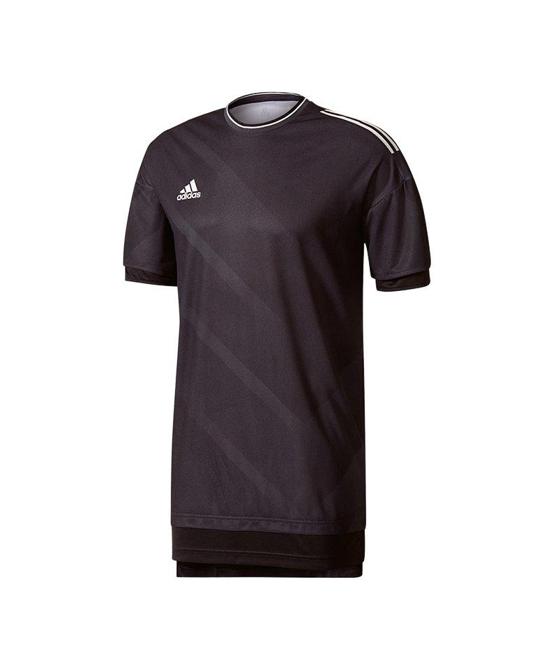 adidas Trainingshirt Tango Future Schwarz Weiss - schwarz