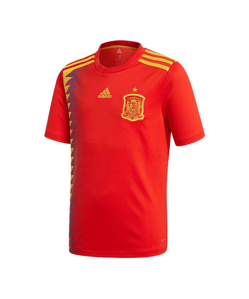 adidas Spanien Trikot Home WM 2018 Kids Rot - rot