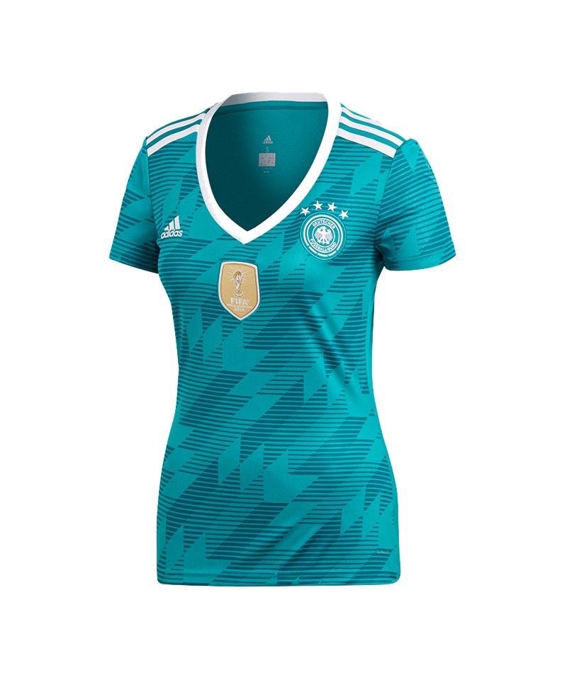 adidas DFB Deutschland Trikot Away Damen WM18 Türkis - tuerkis