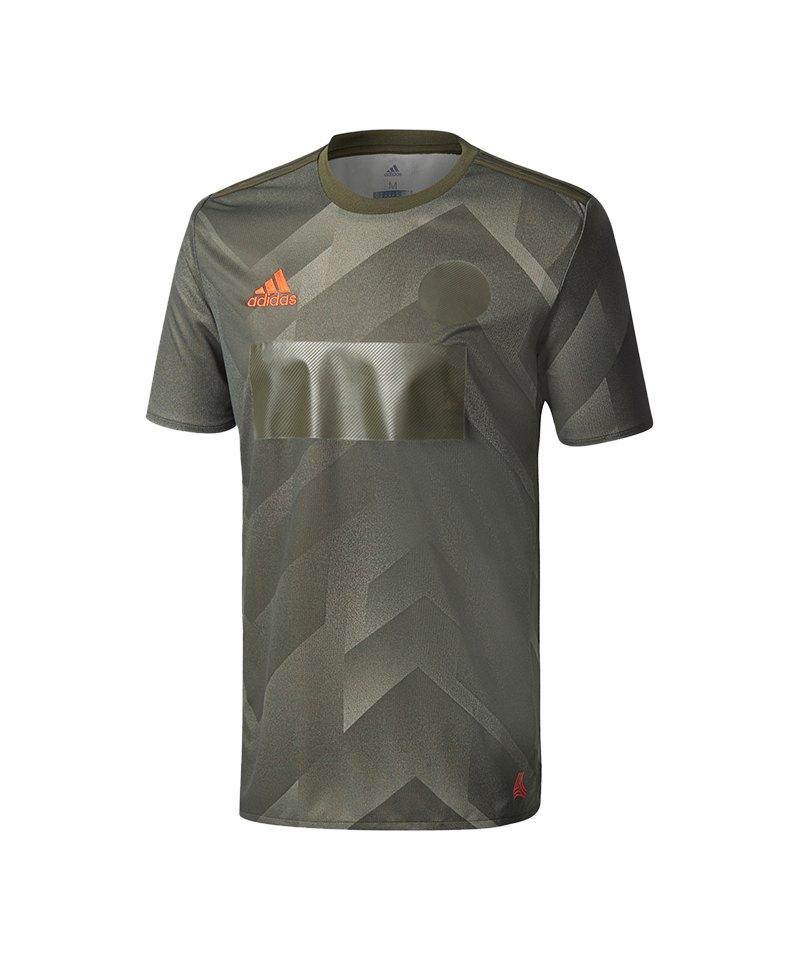adidas Tango Player Jersey T-Shirt Grün - gruen