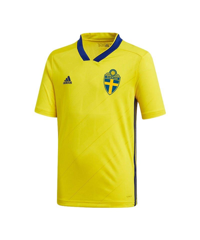 adidas Schweden Trikot Home Kids WM 2018 Gelb - gelb