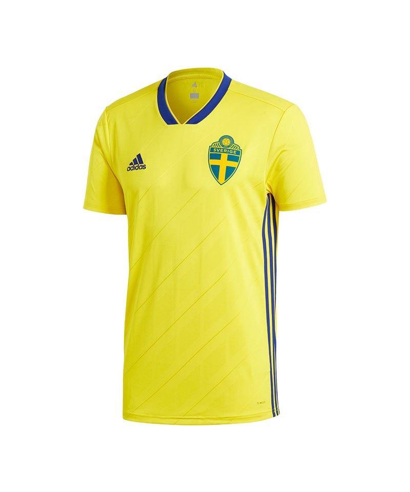 adidas Schweden Trikot Home WM 2018 Gelb - gelb