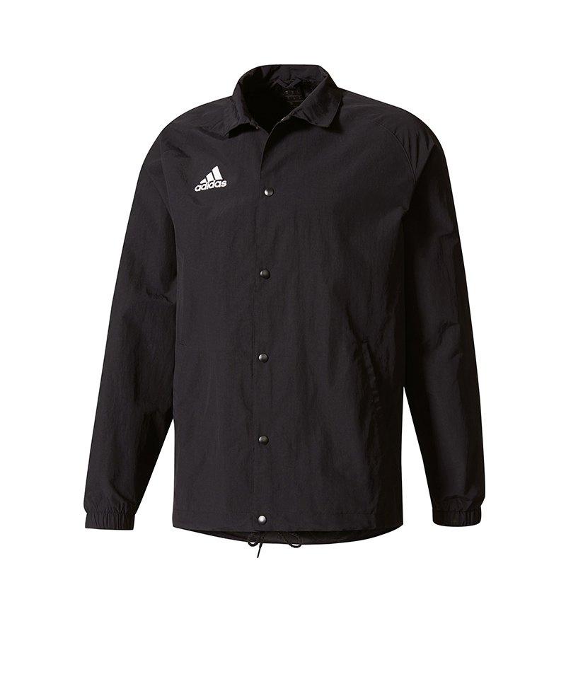 adidas Jacke Tan Coach Jacket Schwarz Weiss - schwarz