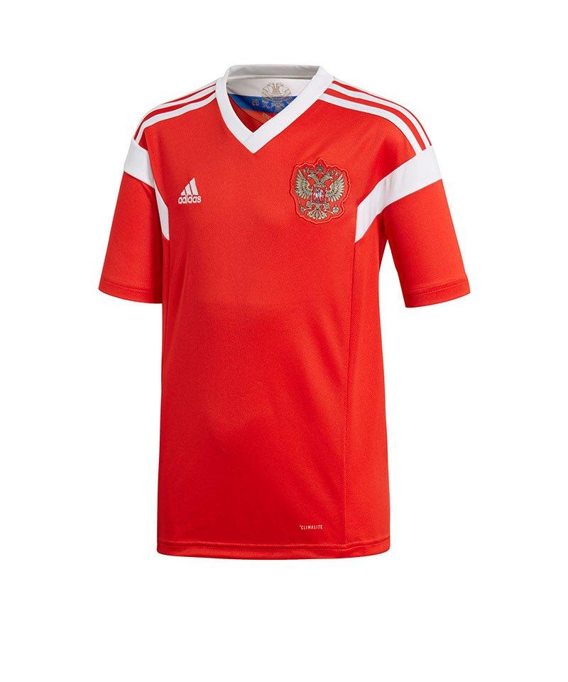 adidas Russland Trikot Home Kids WM 2018 Rot Weiss - rot