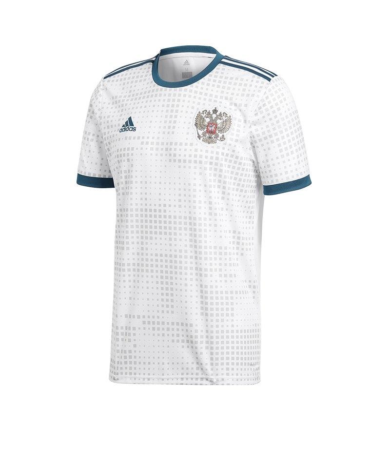 adidas Russland Trikot Away WM 2018 Weiss - weiss
