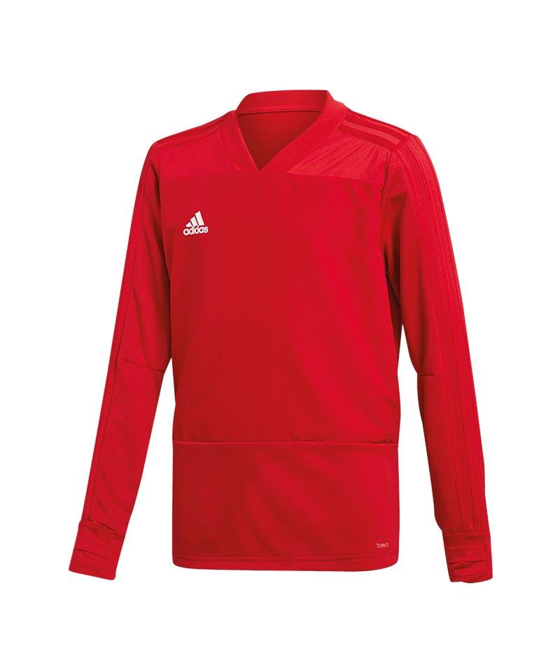 adidas Condivo 18 Sweatshirt Kids Rot Weiss - rot