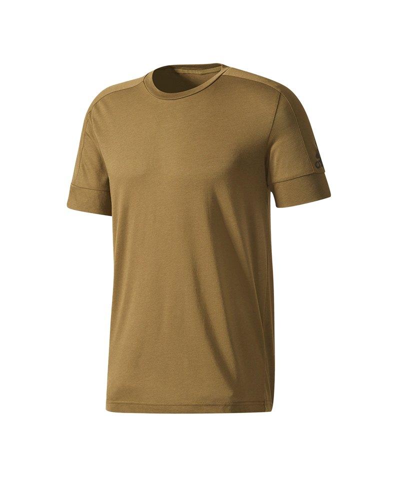 adidas T-Shirt ID Stadium Tee Grün - braun