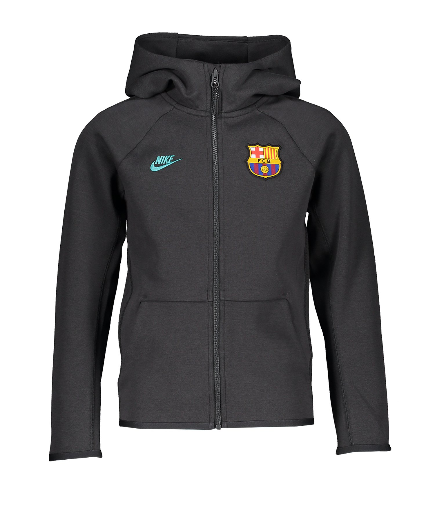 Nike FC Barcelona Kapuzenjacke CL Kids Grau F070 - grau