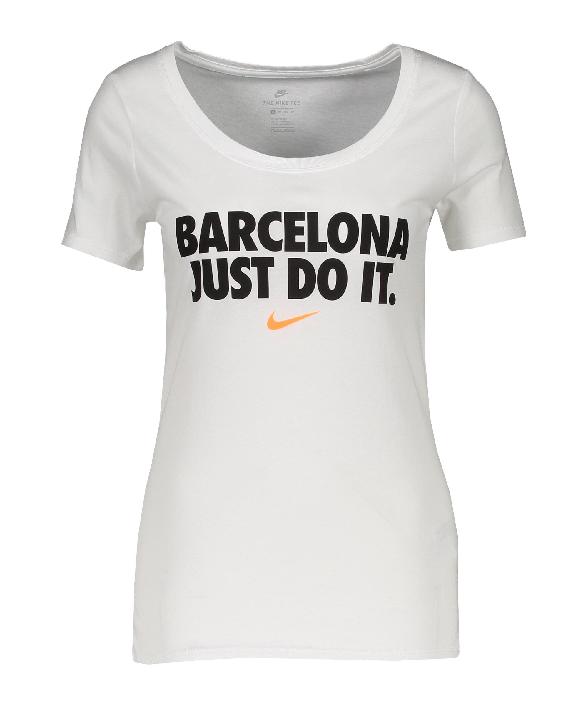 Nike JDI T-Shirt Damen Weiss F100 - weiss