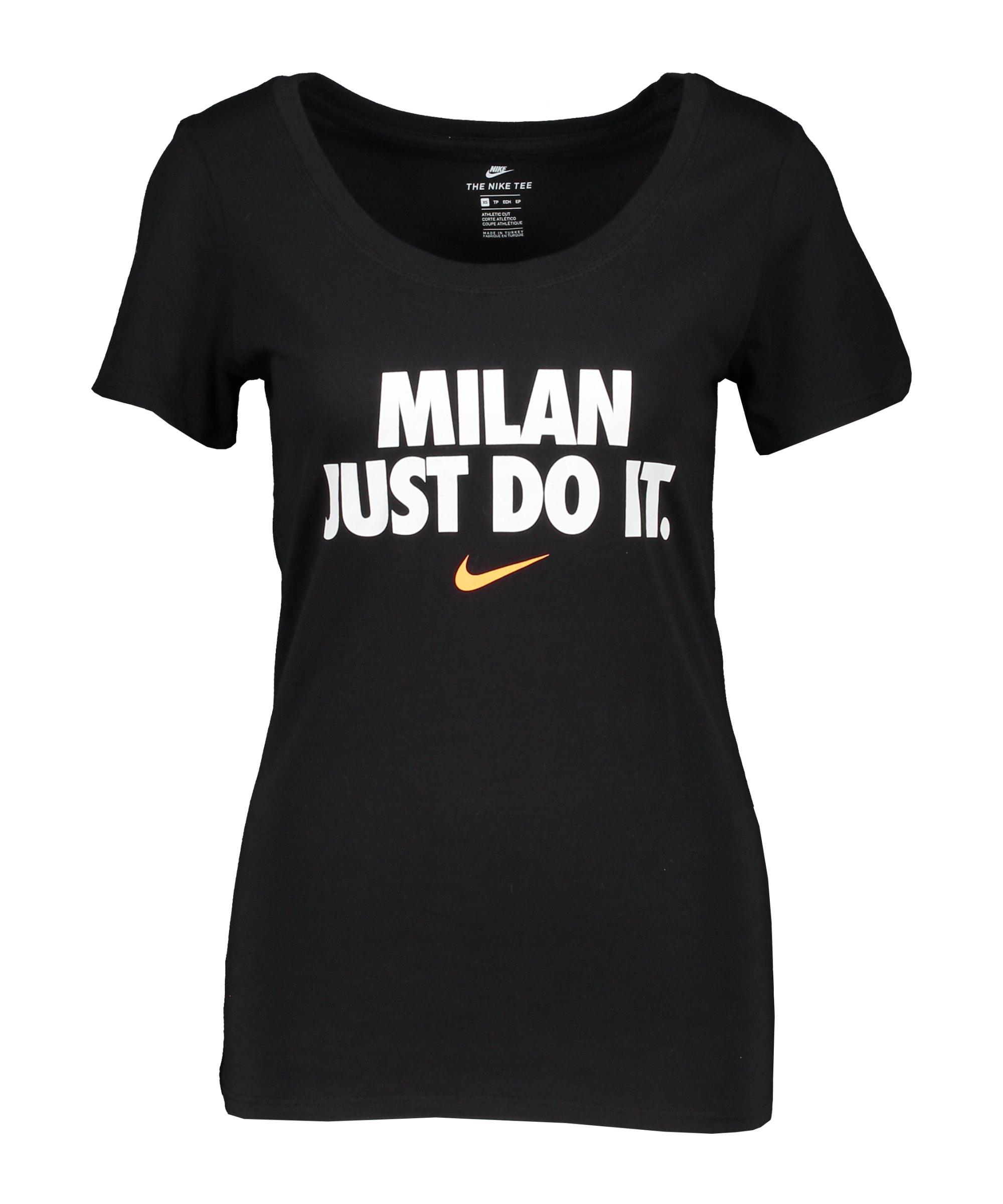 Nike JDI Milan T-Shirt Damen Schwarz F010 - schwarz
