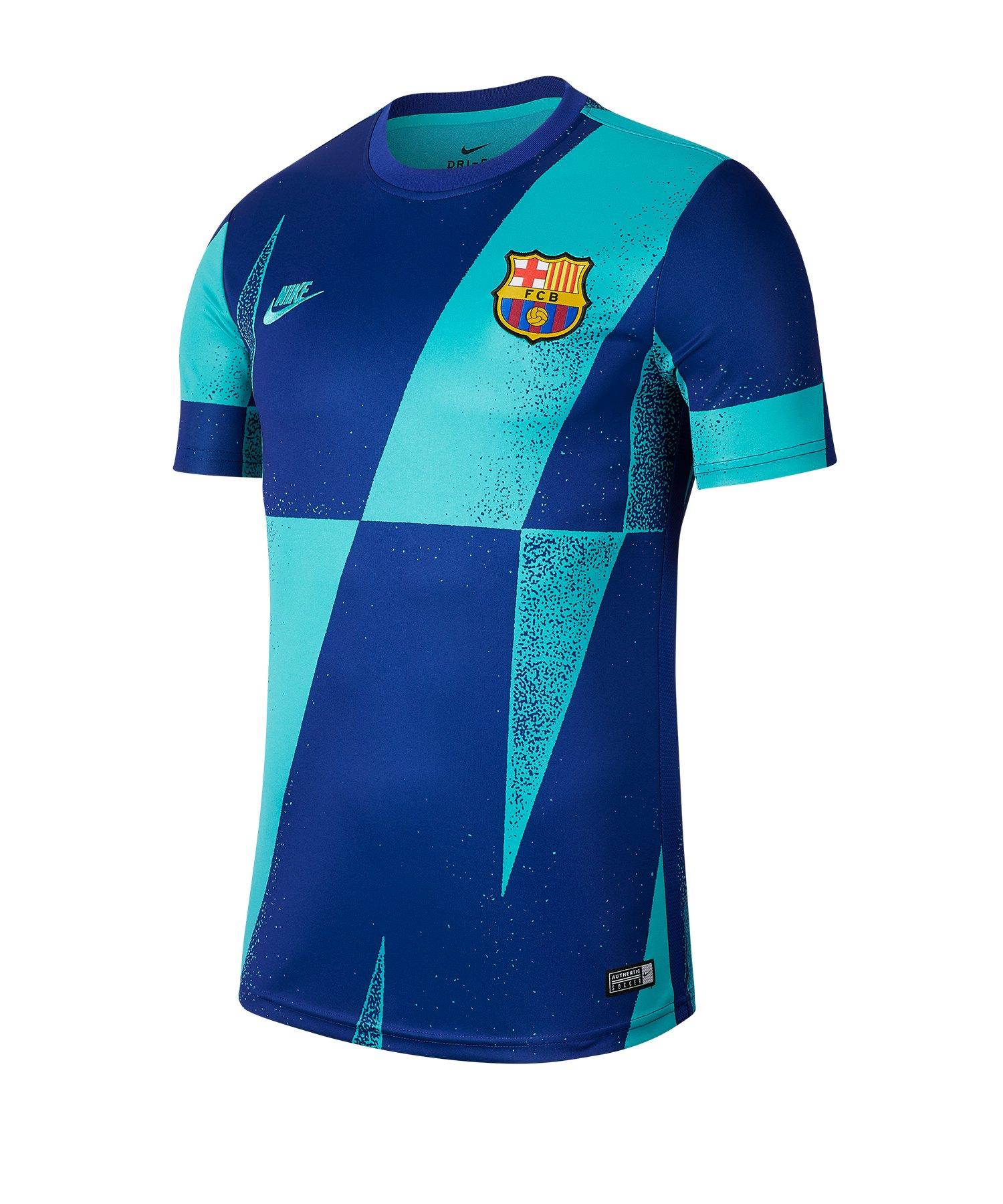 Nike FC Barcelona Dry T-Shirt kurzarm Grün F314 - gruen