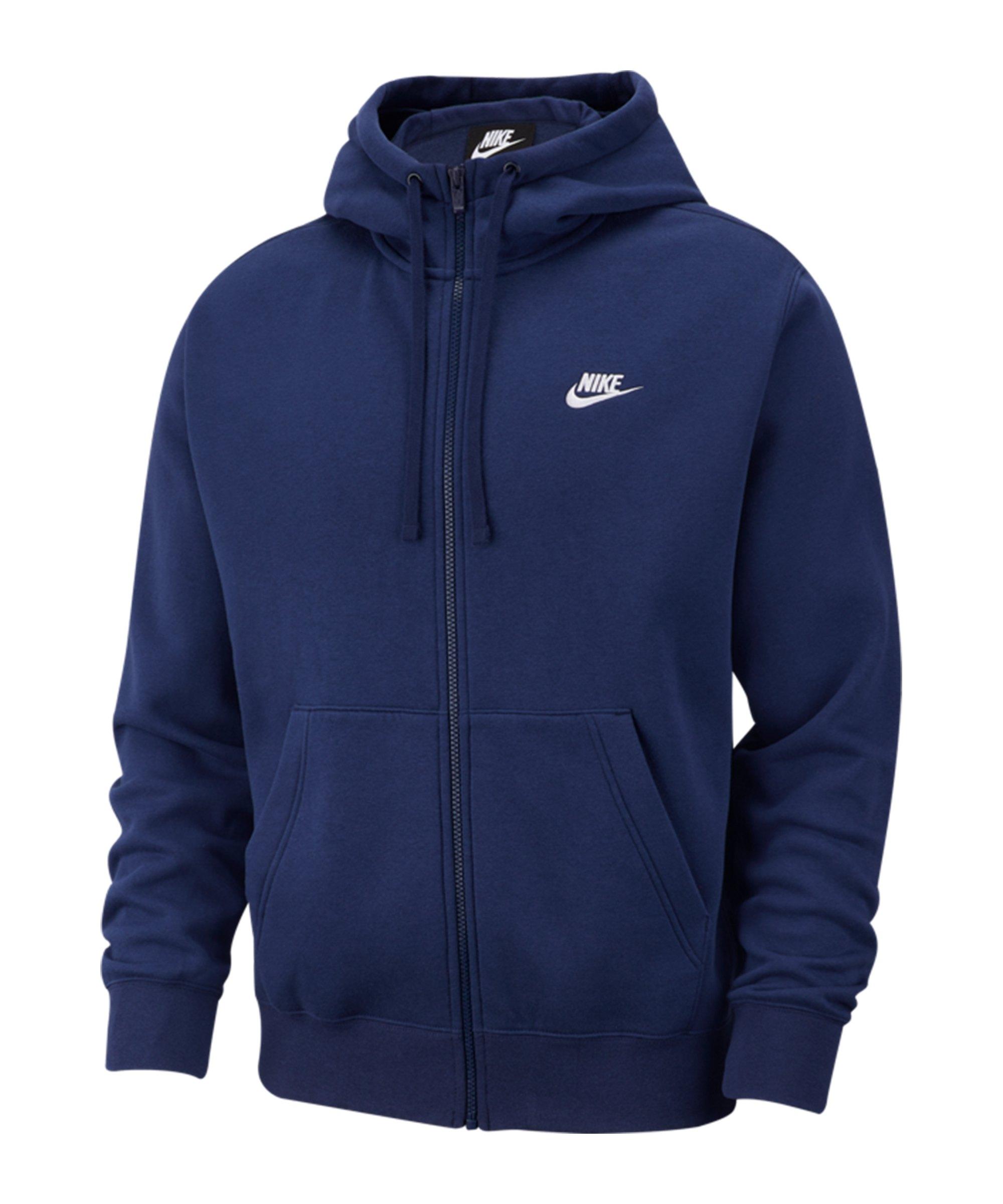 Nike Club Fleece Kapuzenjacke Blau F410 - blau
