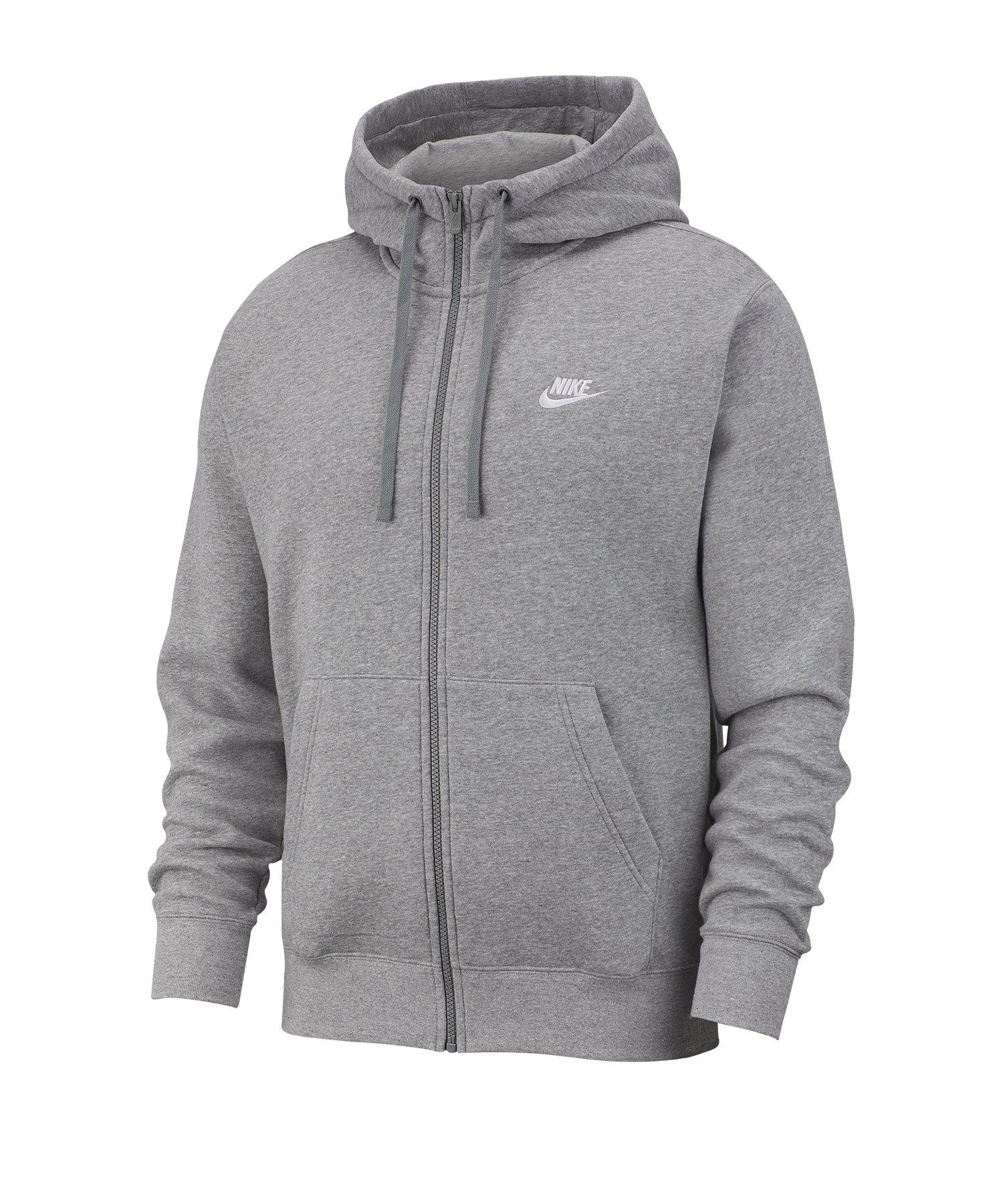 Nike Club Fleece Kapuzenjacke Grau F063 - grau