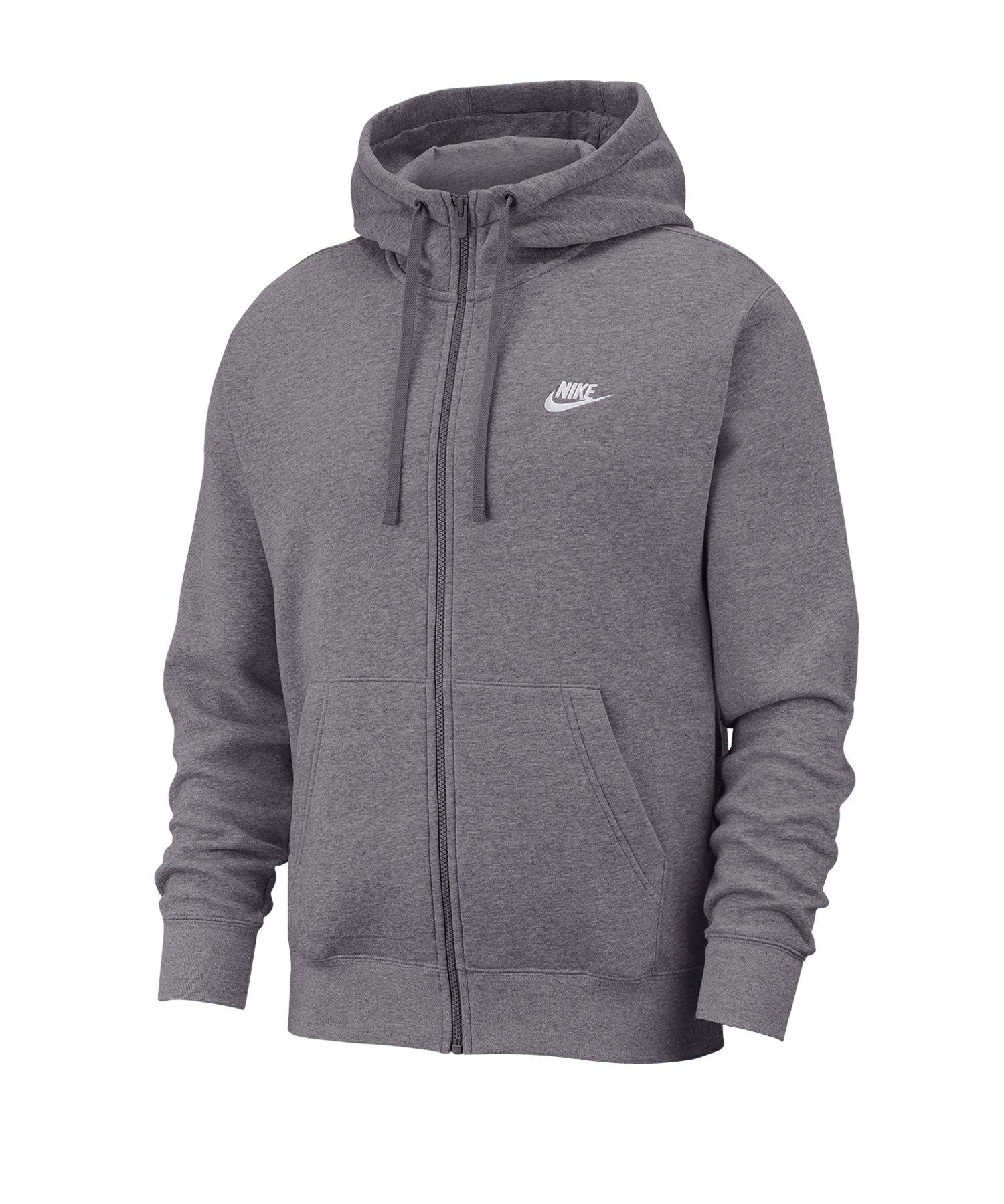 Nike Club Fleece Kapuzenjacke Grau F071 - grau