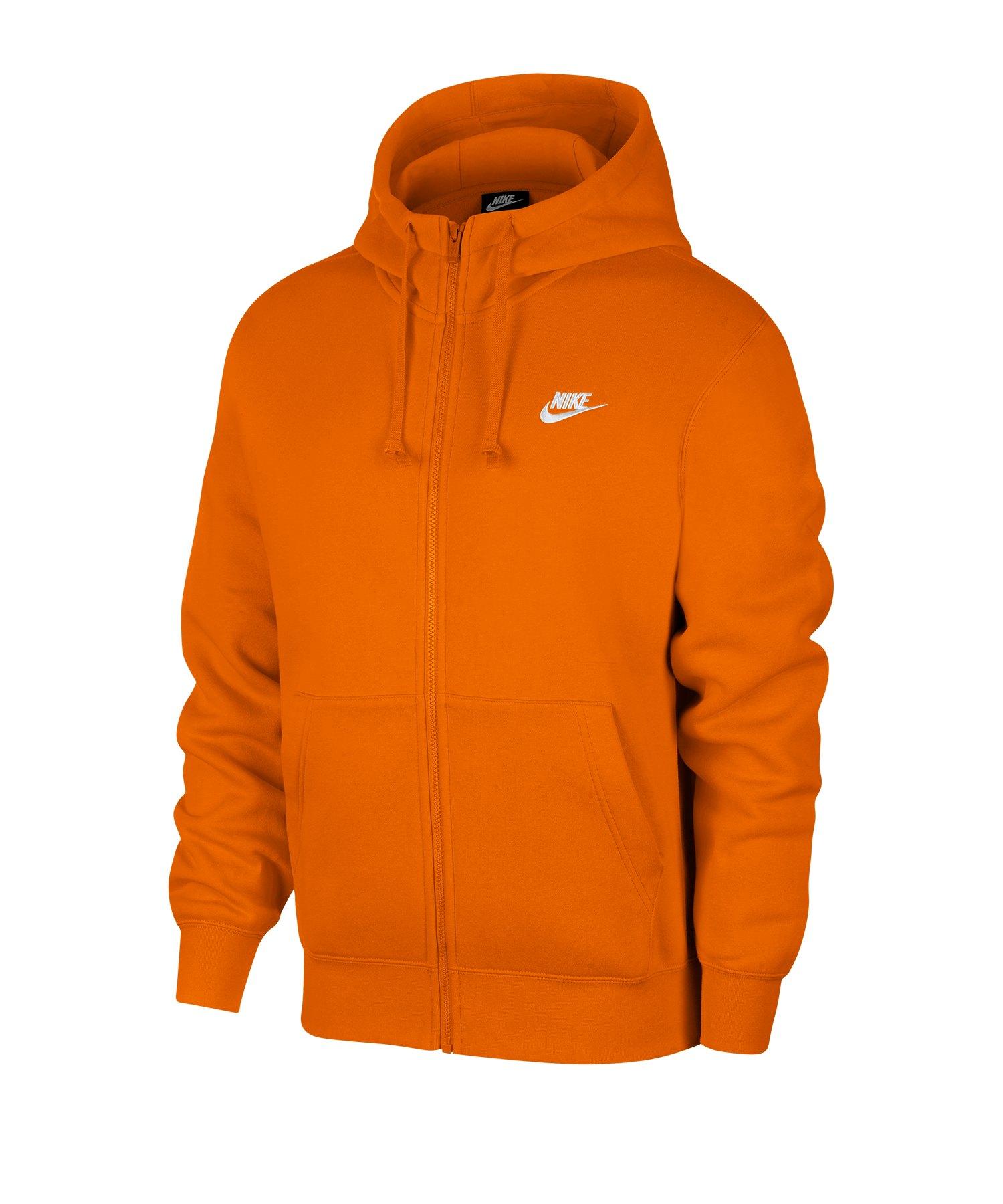 Nike Club Fleece Kapuzenjacke Orange F812 - orange