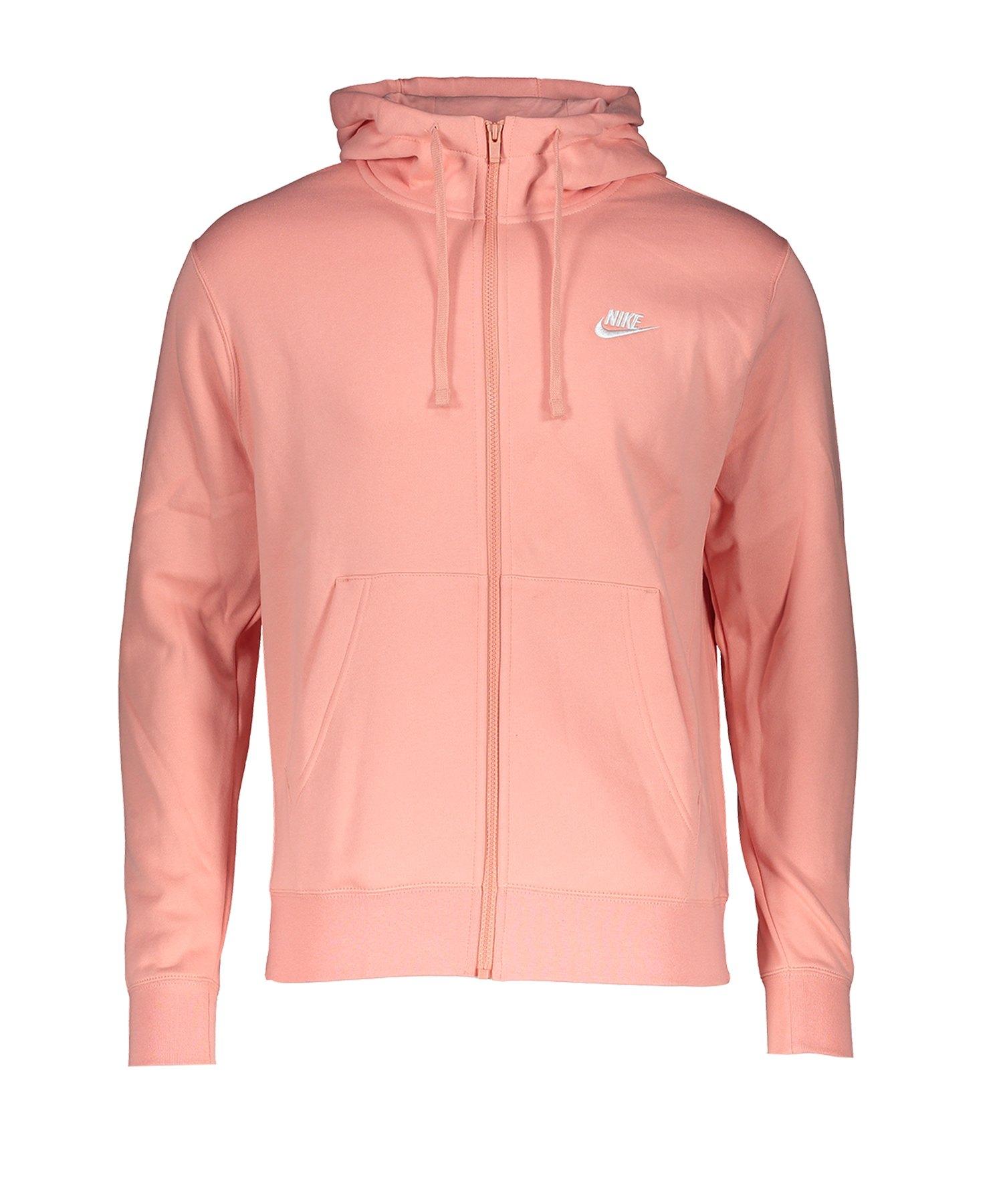 Nike Club Fleece Kapuzenjacke Rosa F606 - rosa