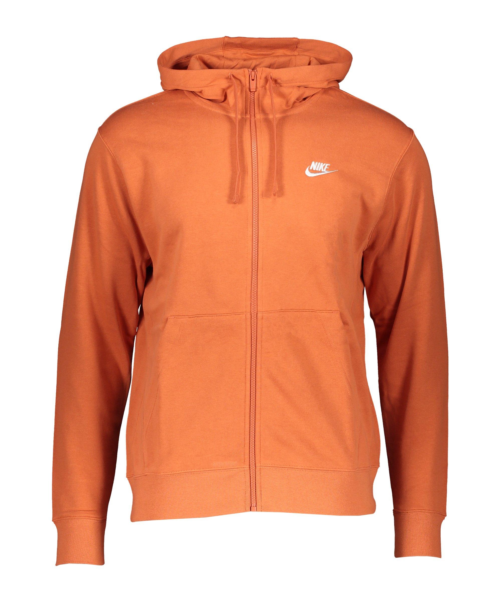 Nike Club Kapuzenjacke Orange F812 - orange