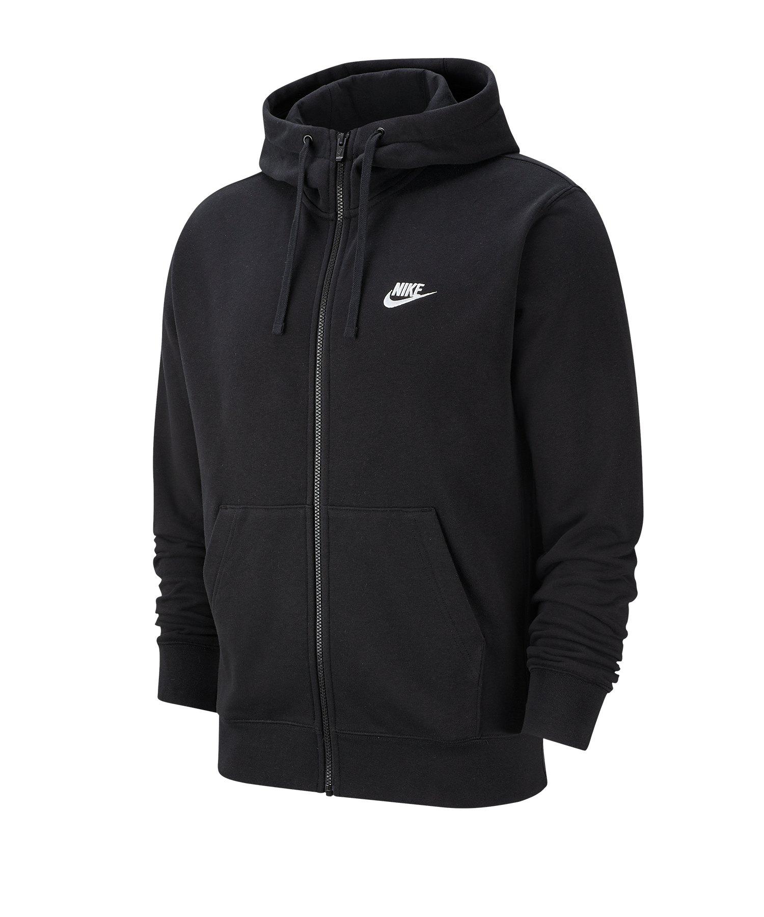 Nike Club Kapuzenjacke Schwarz F010 - schwarz