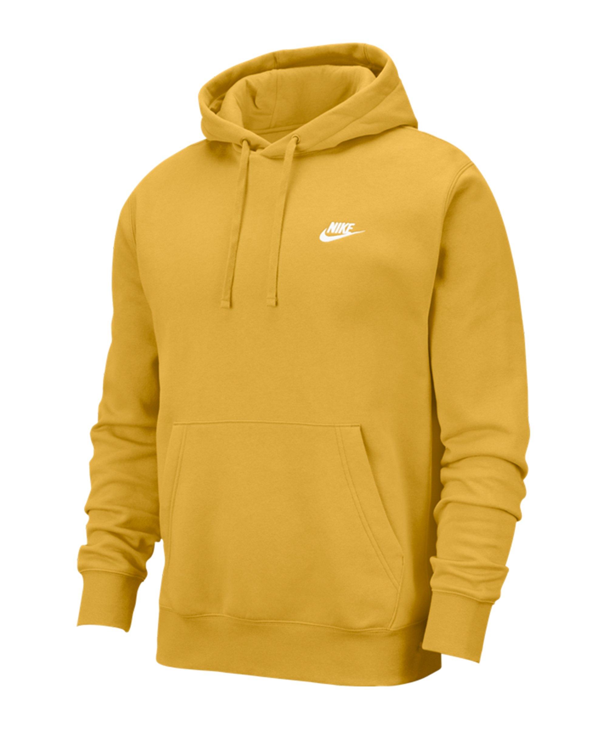 Nike Club Fleece Hoody Gelb F761 - gelb