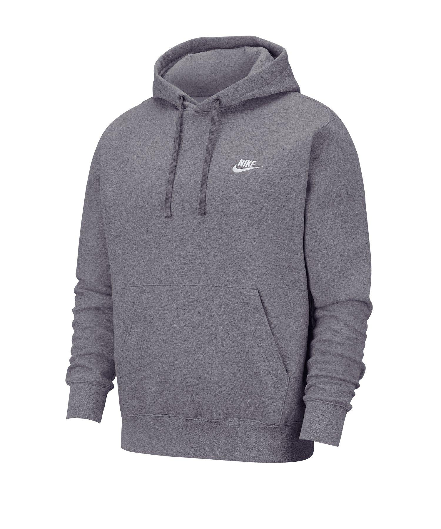 Nike Club Fleece Hoody Grau F071 - grau