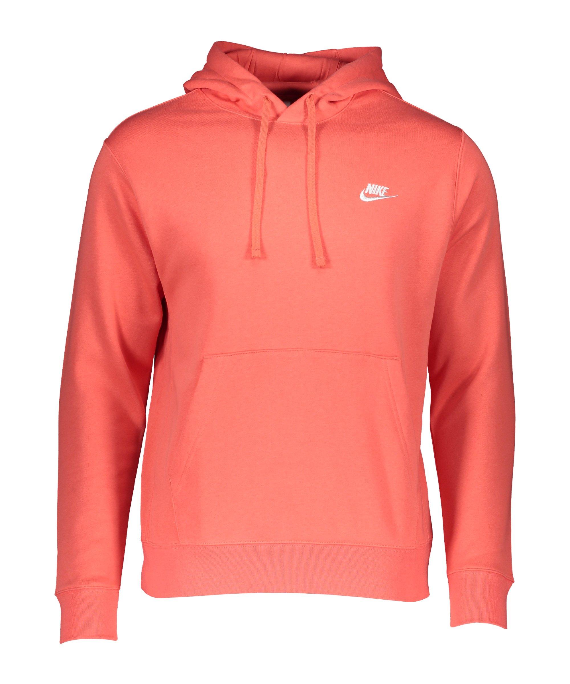 Nike Club Fleece Hoody Rot F814 - rot