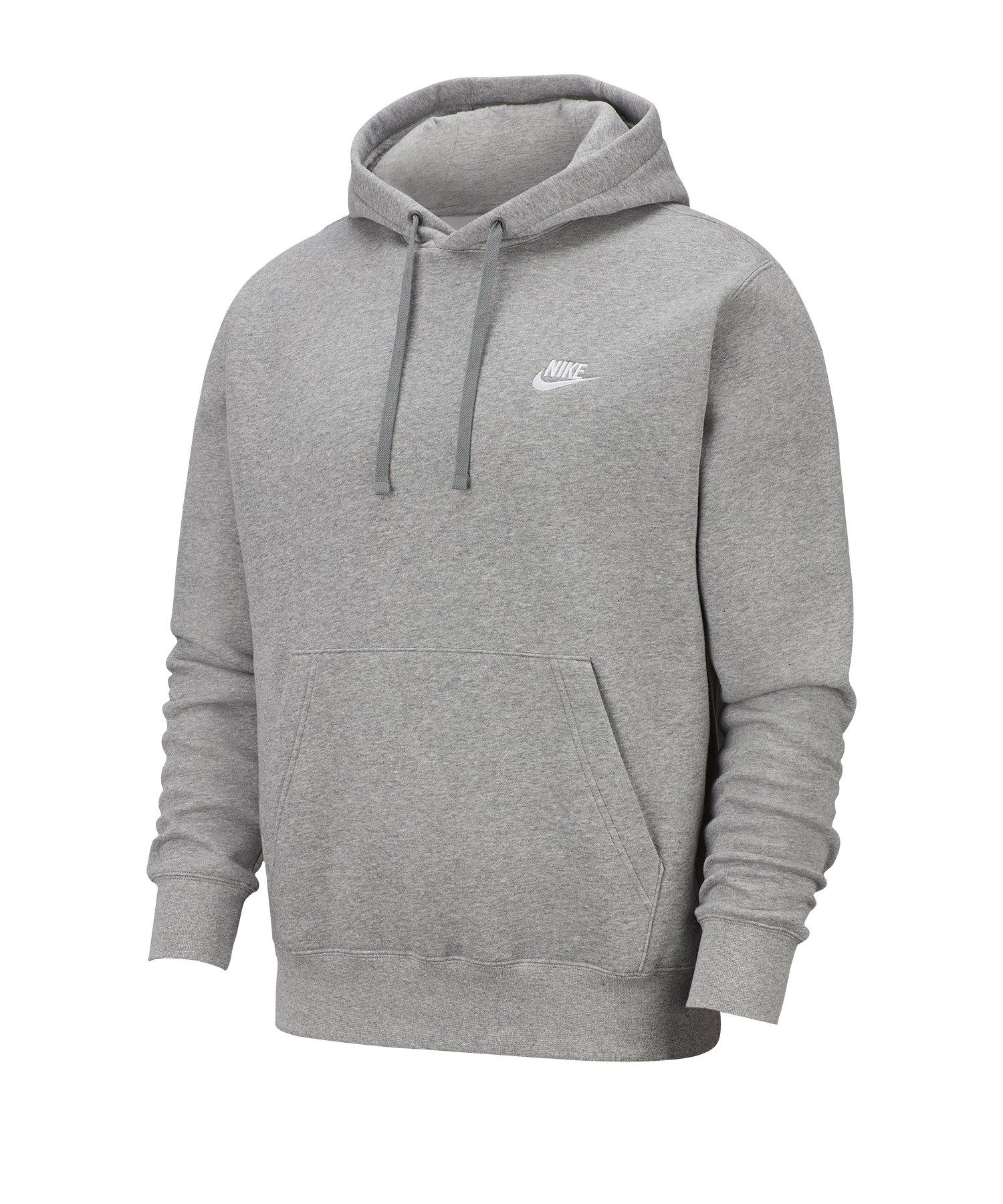 Nike Club Fleece Kapuzensweatshirt Grau F063 - grau