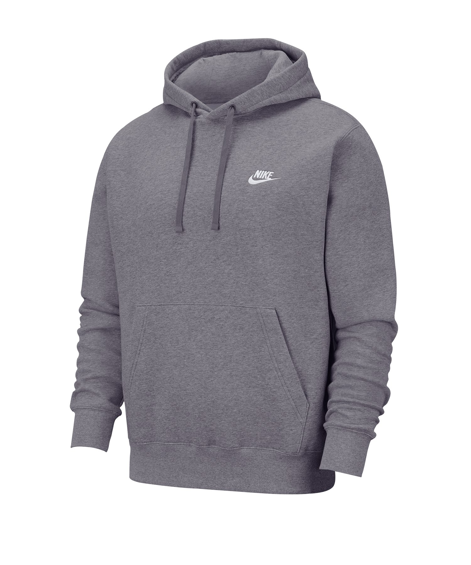Nike Club Fleece Kapuzensweatshirt Grau F071 - grau