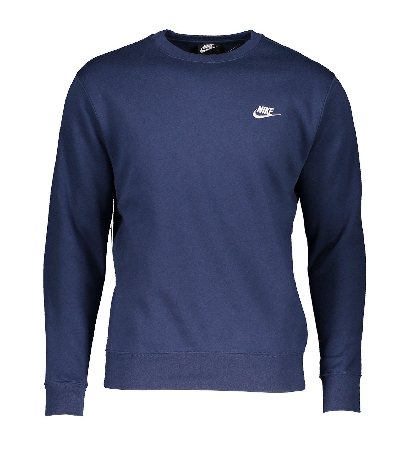 Nike Club Crew Sweatshirt Blau F410 - Blau