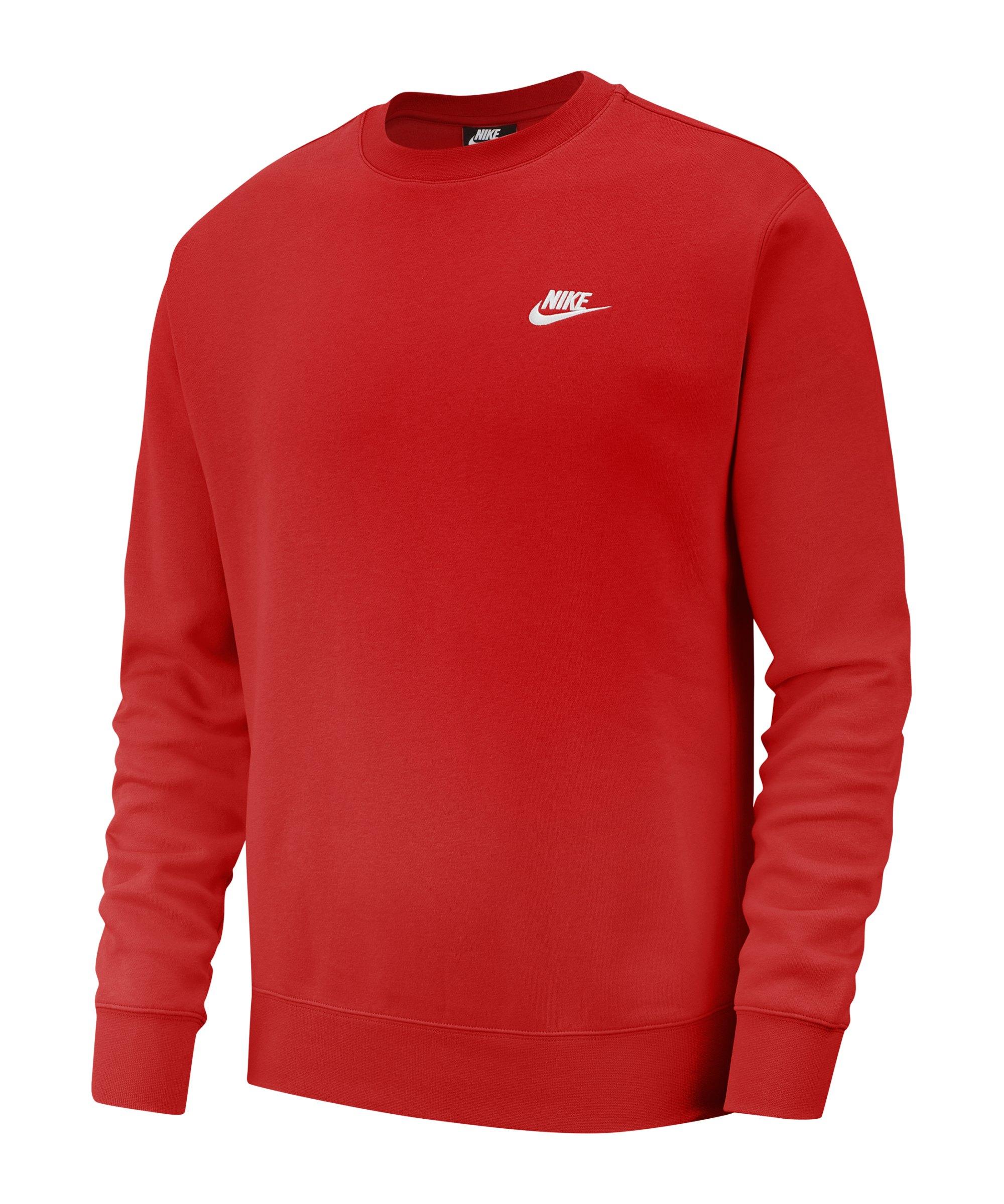Nike Club Crew Sweatshirt Rot Weiss F657 - rot