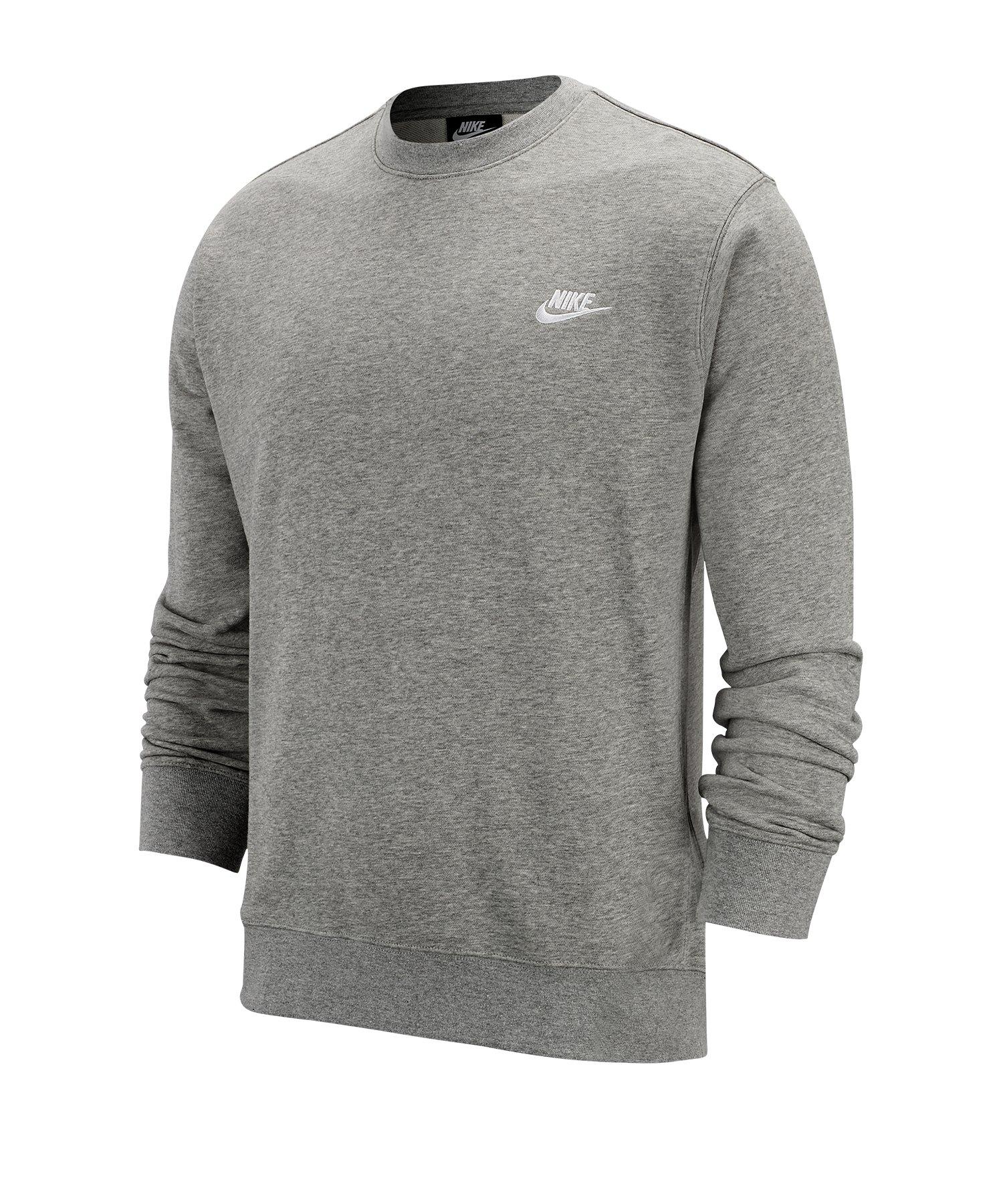 Nike Club Crew Sweatshirt Grau F063 - grau