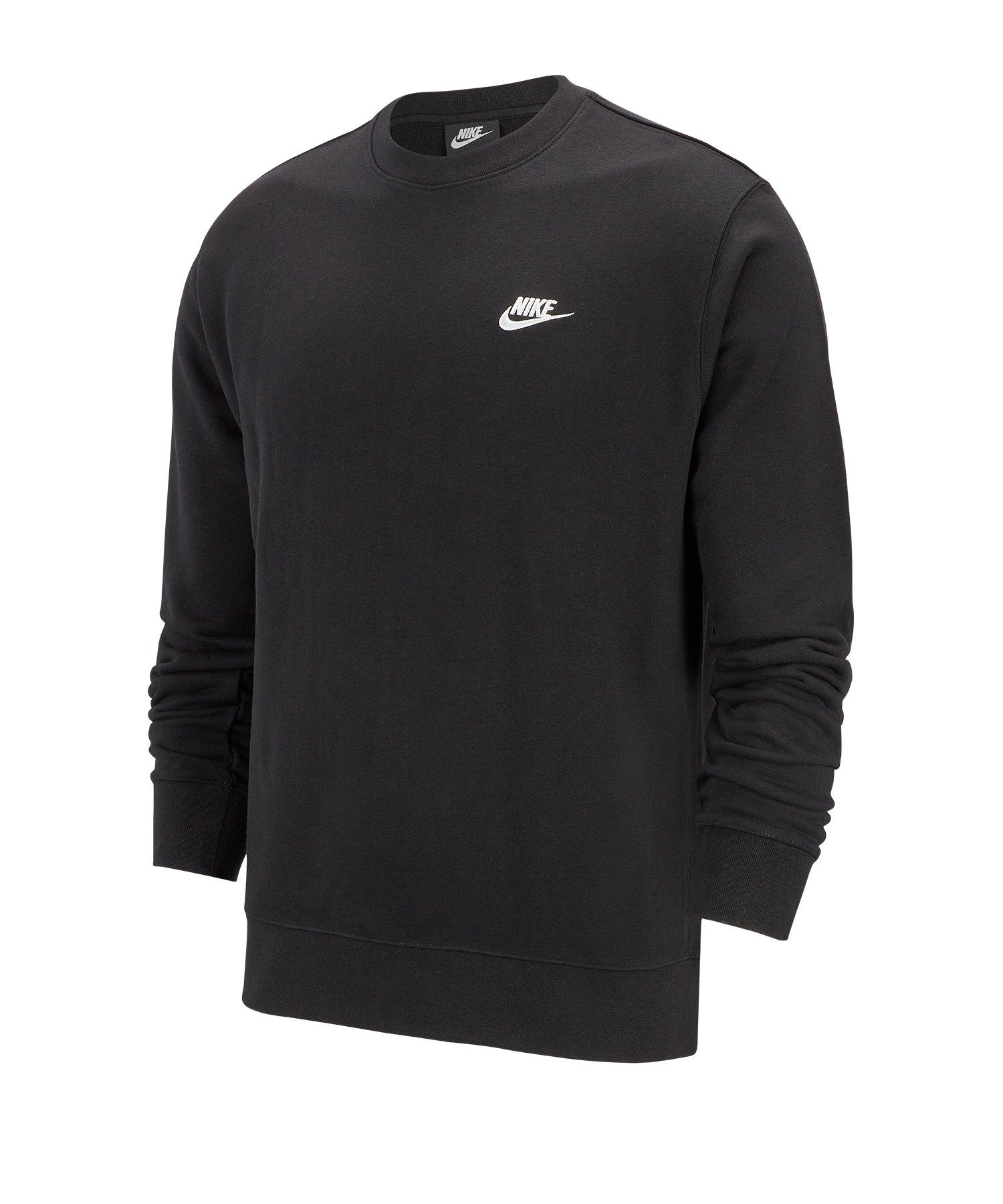 Nike Club Crew Sweatshirt Schwarz F010 - schwarz