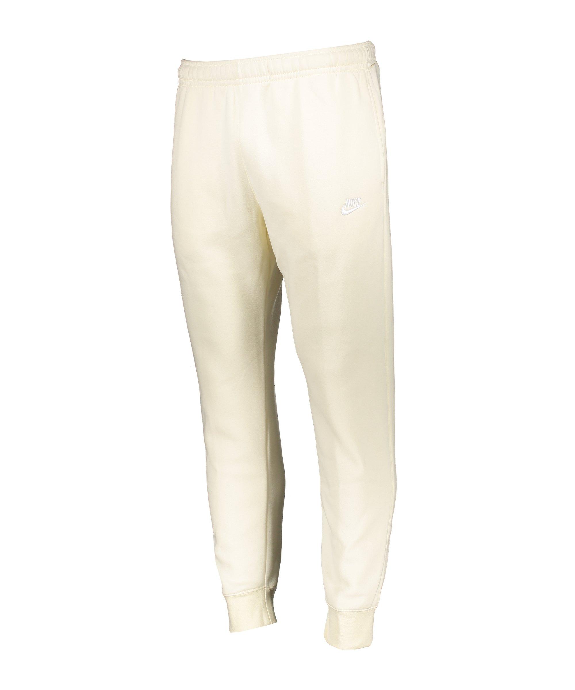 Nike Club Fleece Jogginghose Beige Weiss F113 - beige
