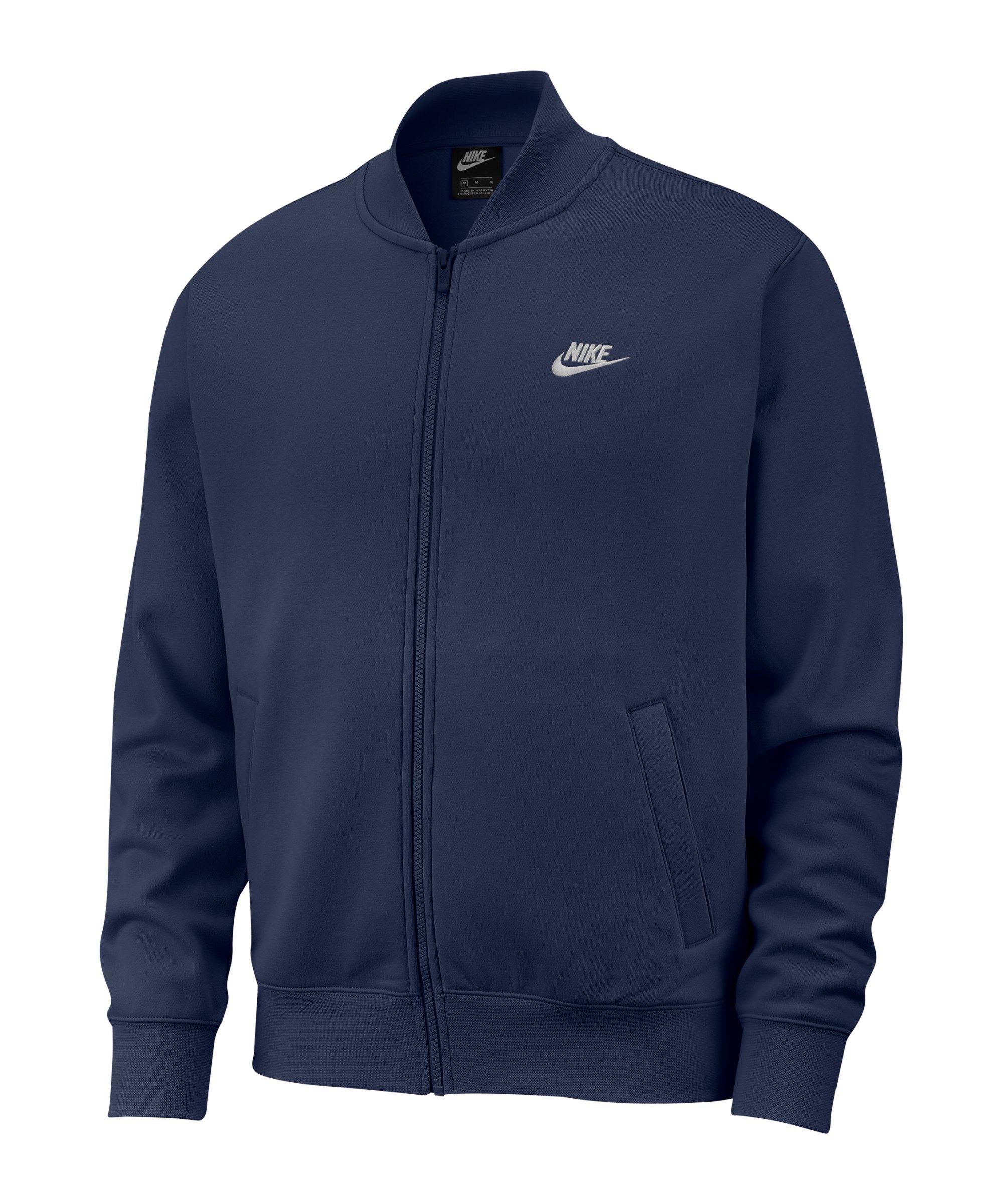 Nike Club Fleece Bomber Jacke Blau F411 - blau
