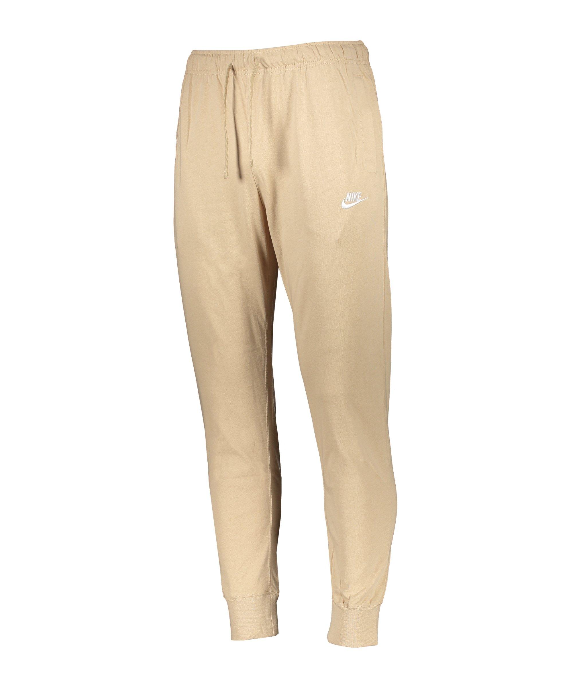 Nike Club Jogger Jersey Jogginghose Braun F224 - braun
