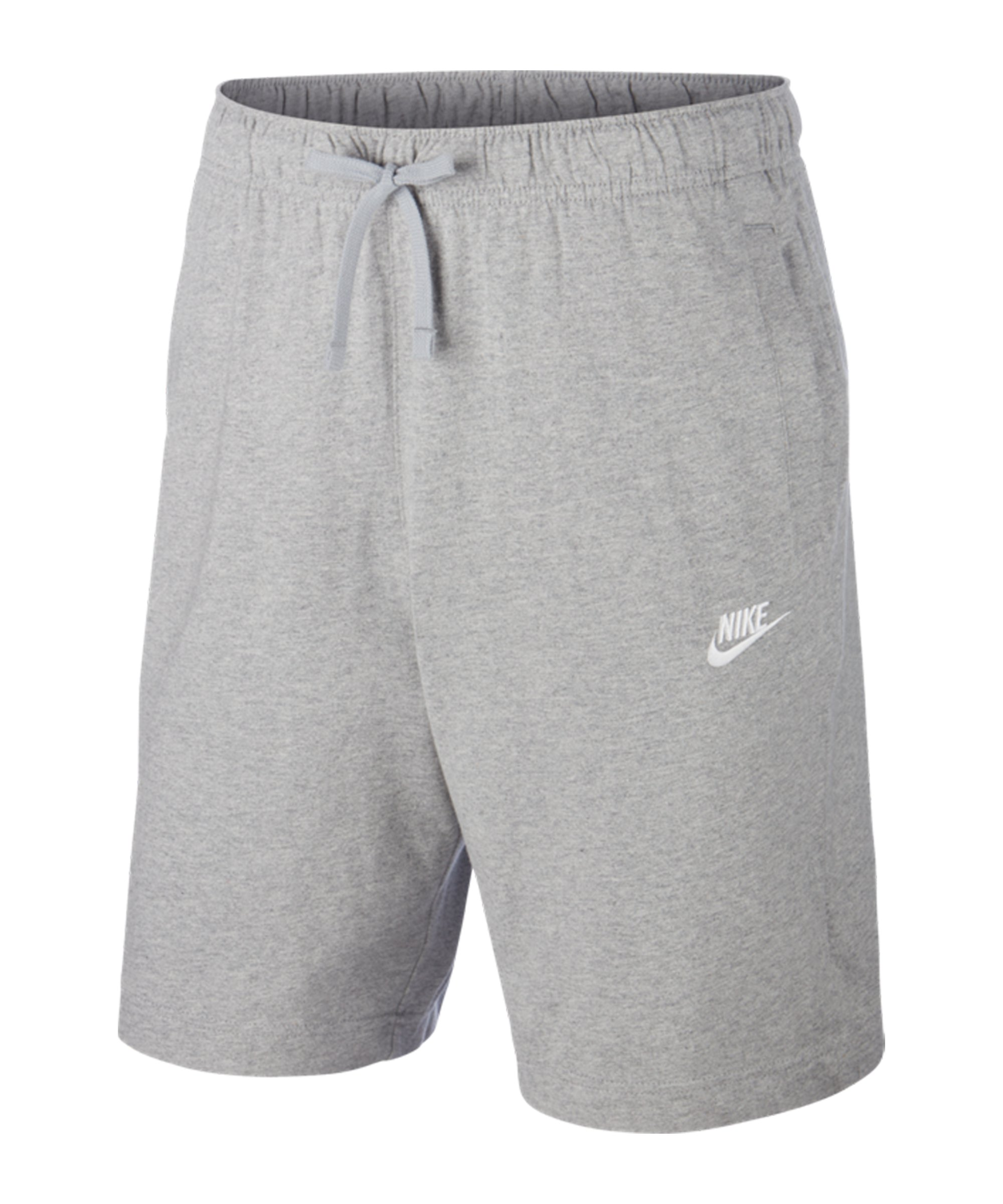 Nike Club Jersey Short Grau Weiss F063 - grau