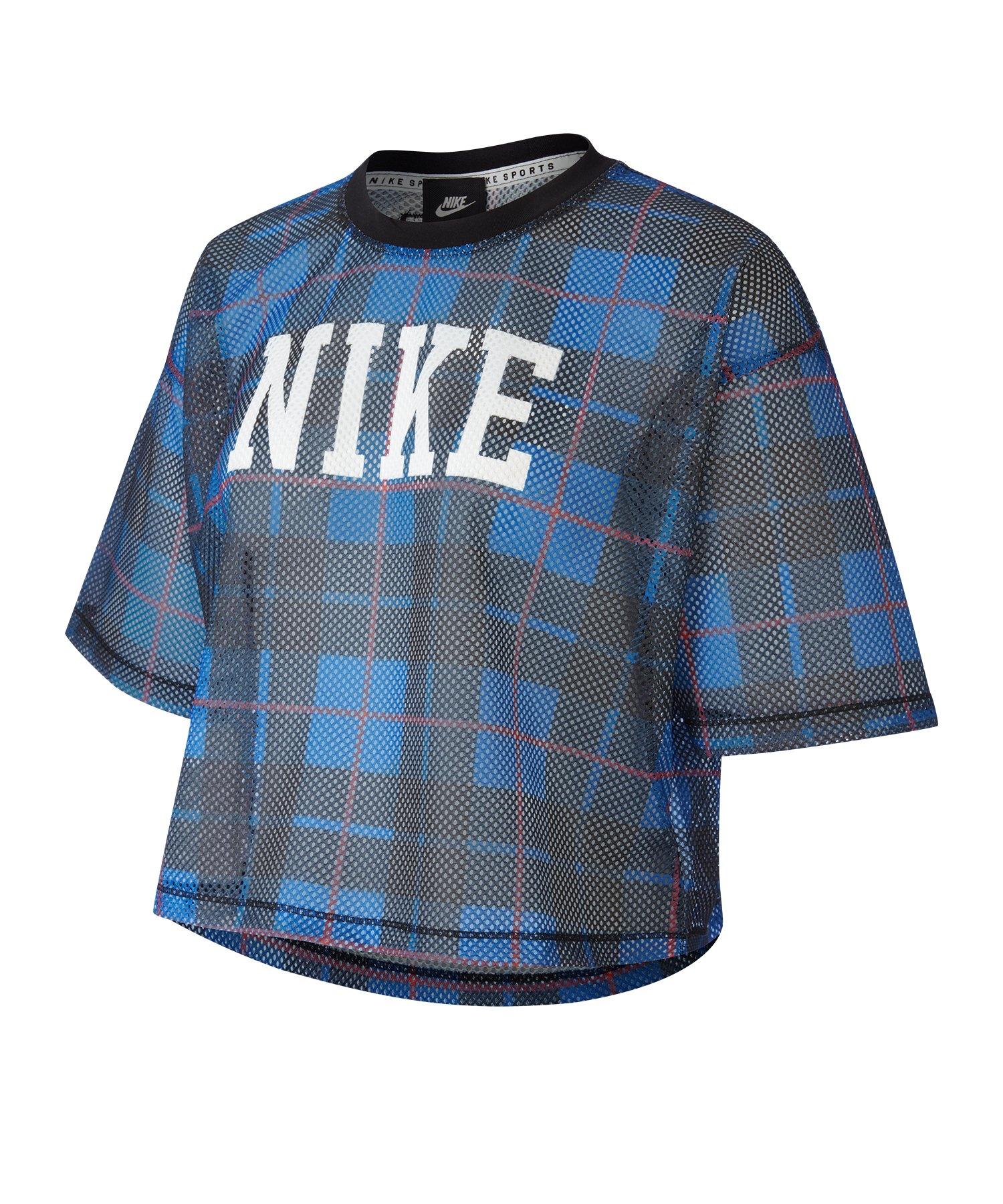 Nike Short-Sleeve Mesh Top Damen F480 - blau