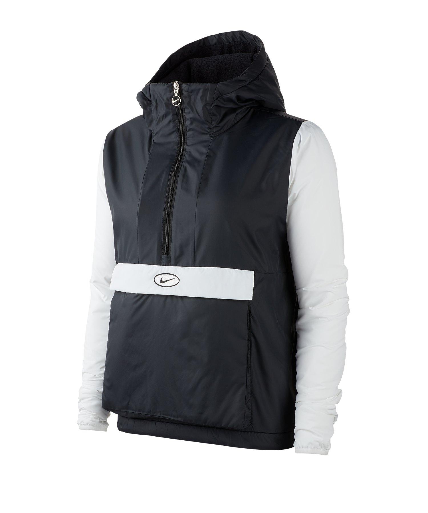 Nike Swoosh Jacket Jacke Schwarz Weiss F013 - schwarz